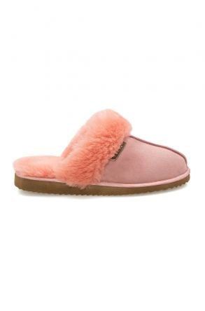Pegia Genuine Sheepskin Women's House Slippers 212001 Pink
