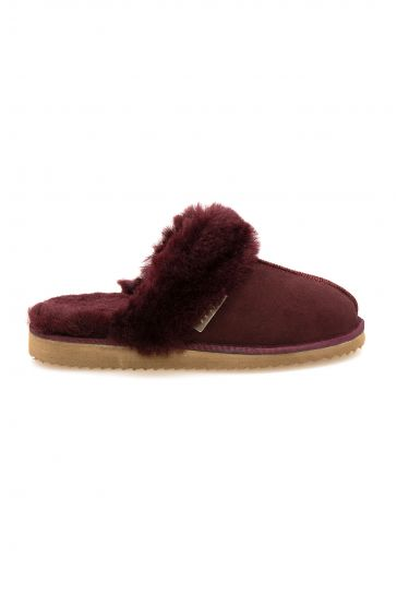 Pegia Genuine Sheepskin Women's House Slippers 212001 Claret red
