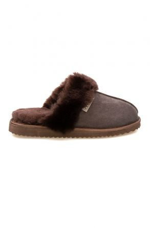 Pegia Genuine Sheepskin Women's House Slippers 212001 Brown