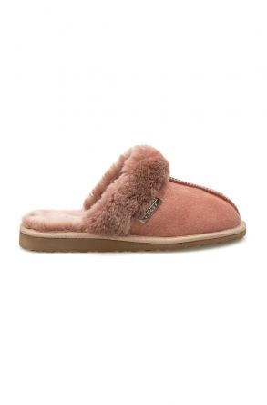 Pegia Women's Sheepskin House Slippers 212002 Powdery