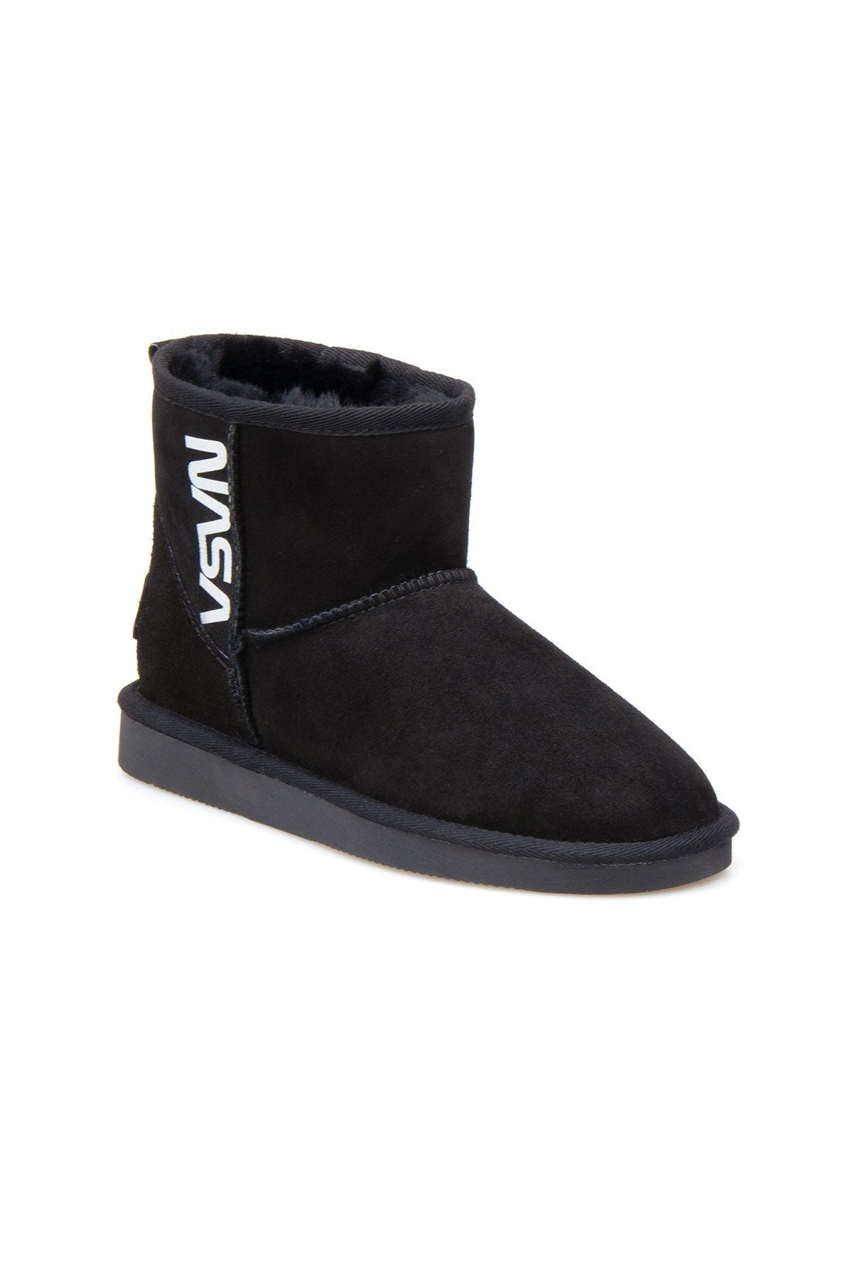 Pegia Genuine Sheepskin Women's Boots 191120 Black