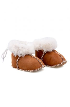Pegia Shearling Baby's Booties 141113 Ginger