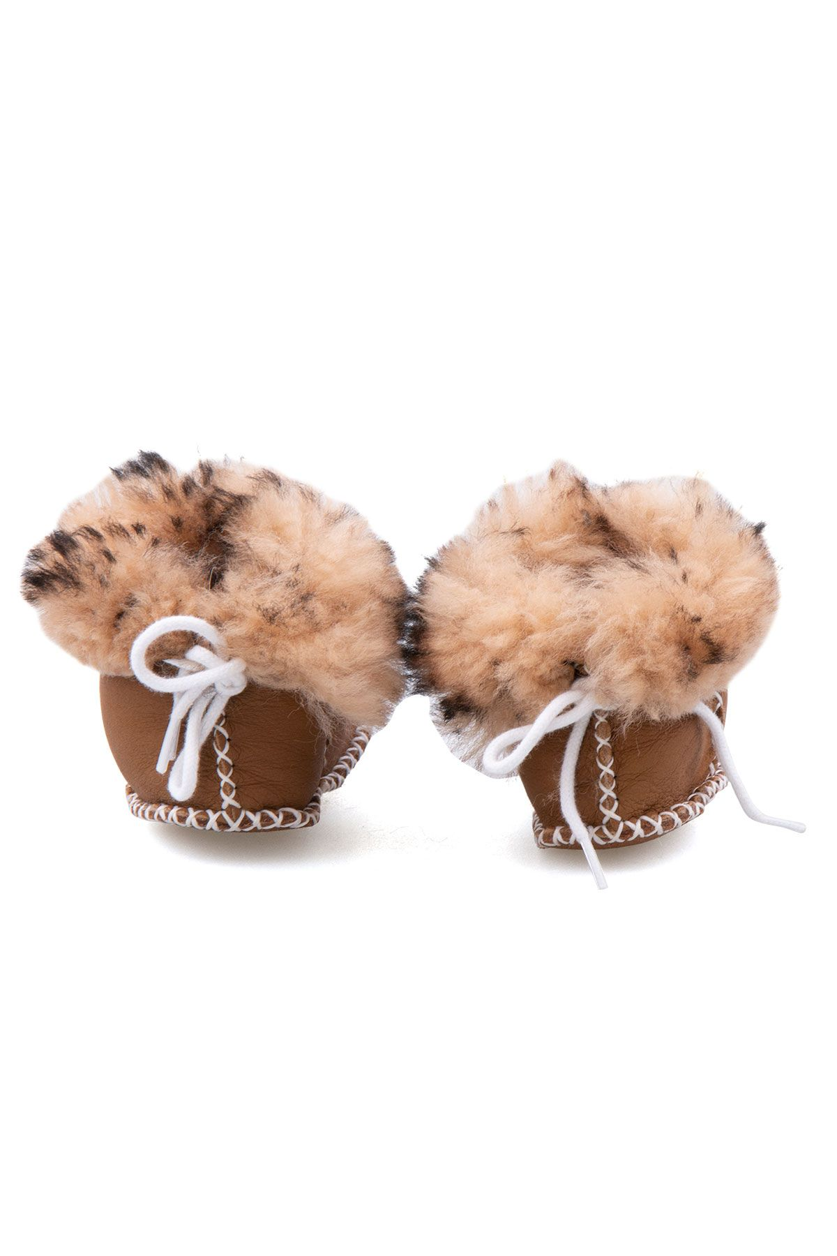 Pegia Shearling Baby's Booties 141113 Brown