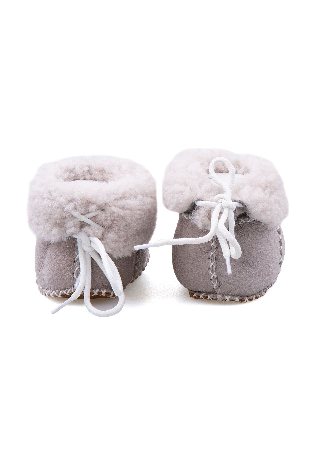 Pegia Shearling Baby's Booties 141113 Gray