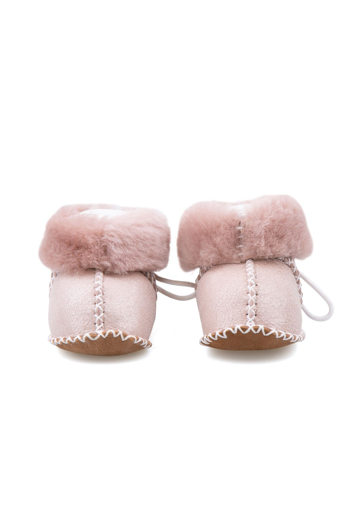 Pegia Shearling Baby's Booties 141113 Powdery