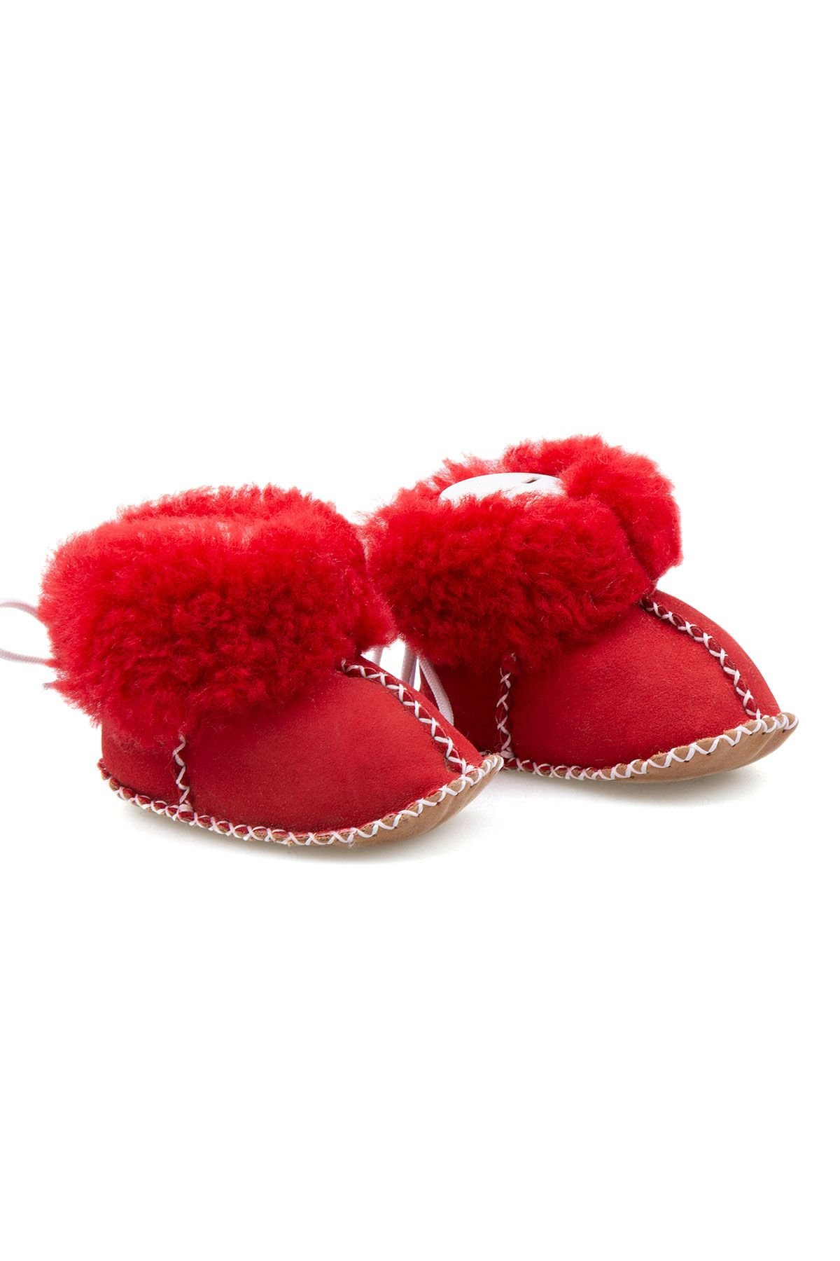 Pegia Shearling Baby's Booties 141113 Red
