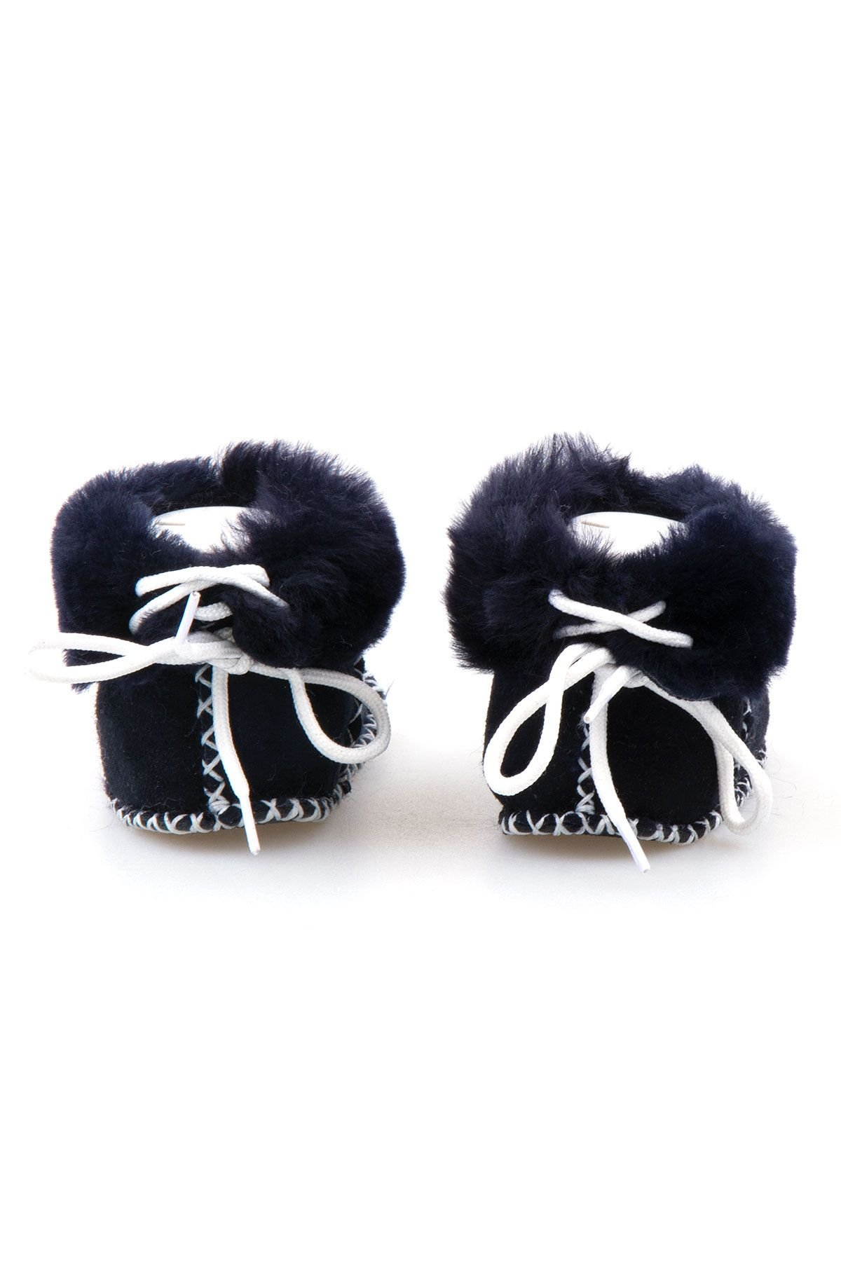 Pegia Shearling Baby's Booties 141114 Navy blue