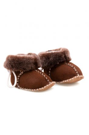 Pegia Shearling Baby's Booties 141114 Brown