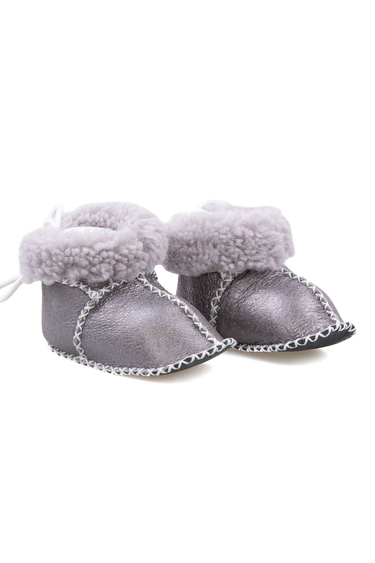 Pegia Shearling Baby's Booties 141114 Gray