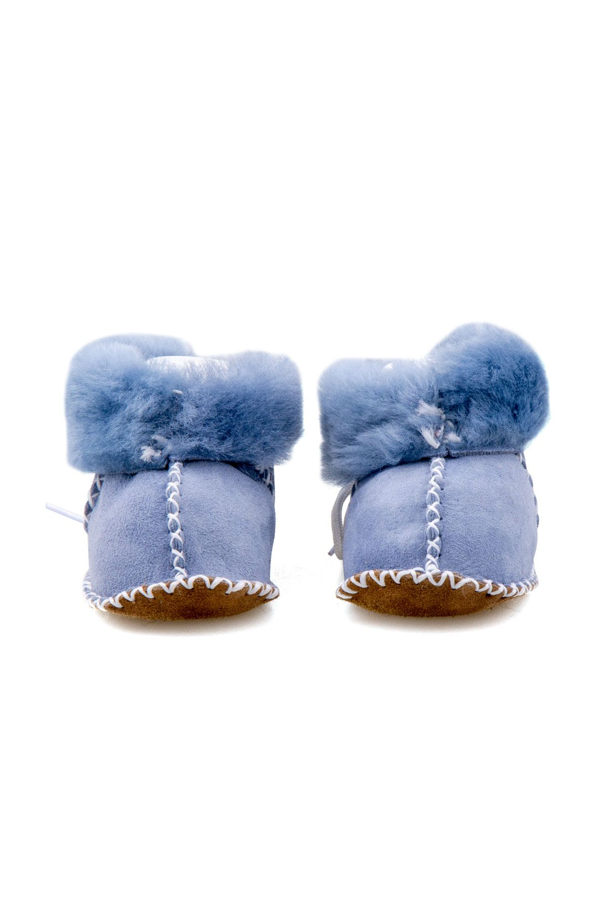Pegia Shearling Baby's Booties 141114 Blue