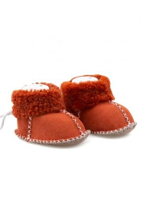 Pegia Shearling Baby's Booties 141114 Orange