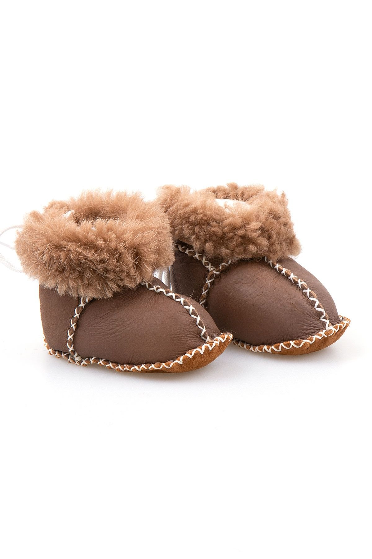 Pegia Shearling Baby's Booties 141114 Light Brown