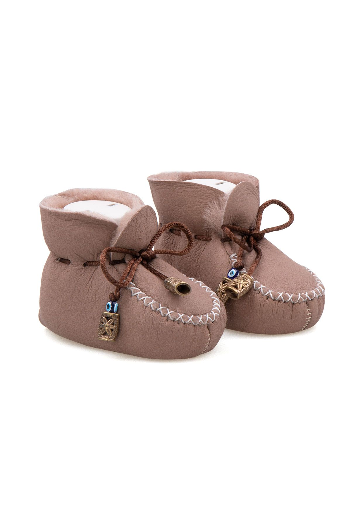 Pegia Shearling Baby's Booties 141115 Powdery