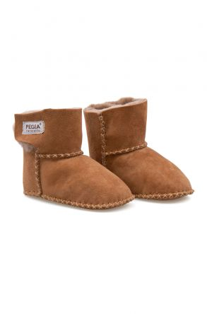 Pegia Shearling Baby's Booties 141116 Ginger