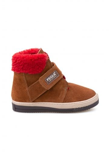 Pegia Genuine Sheepskin Kids Boots 186028 Ginger