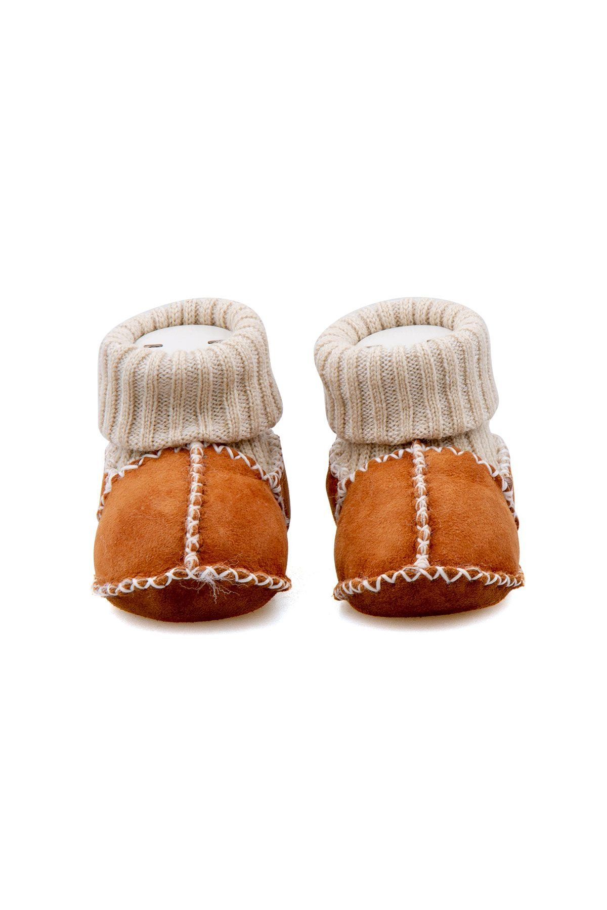 Pegia Shearling Baby's Booties With Socks 141107 Ginger