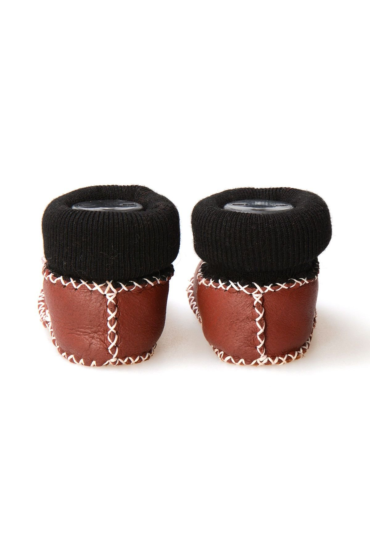 Pegia Shearling Baby's Booties With Socks 141107 Claret red