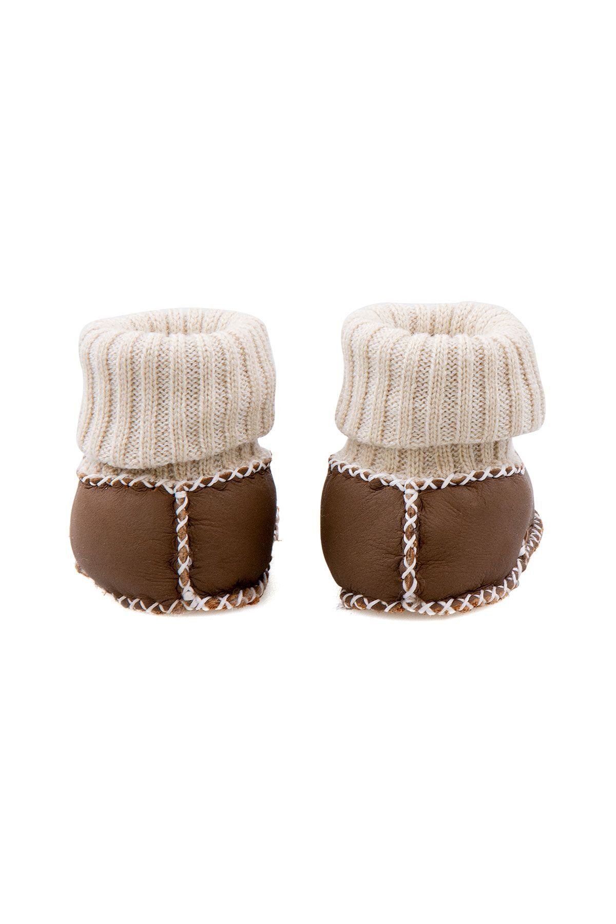 Pegia Shearling Baby's Booties With Socks 141107 Brown