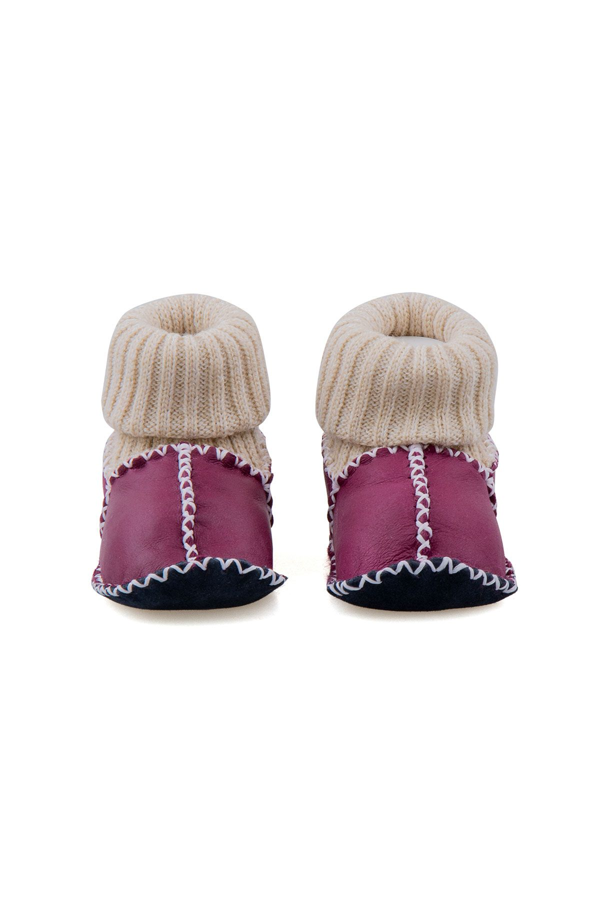 Pegia Shearling Baby's Booties With Socks 141107 Magenta