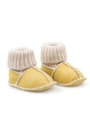 Pegia Shearling Baby's Booties With Socks 141107 Yellow