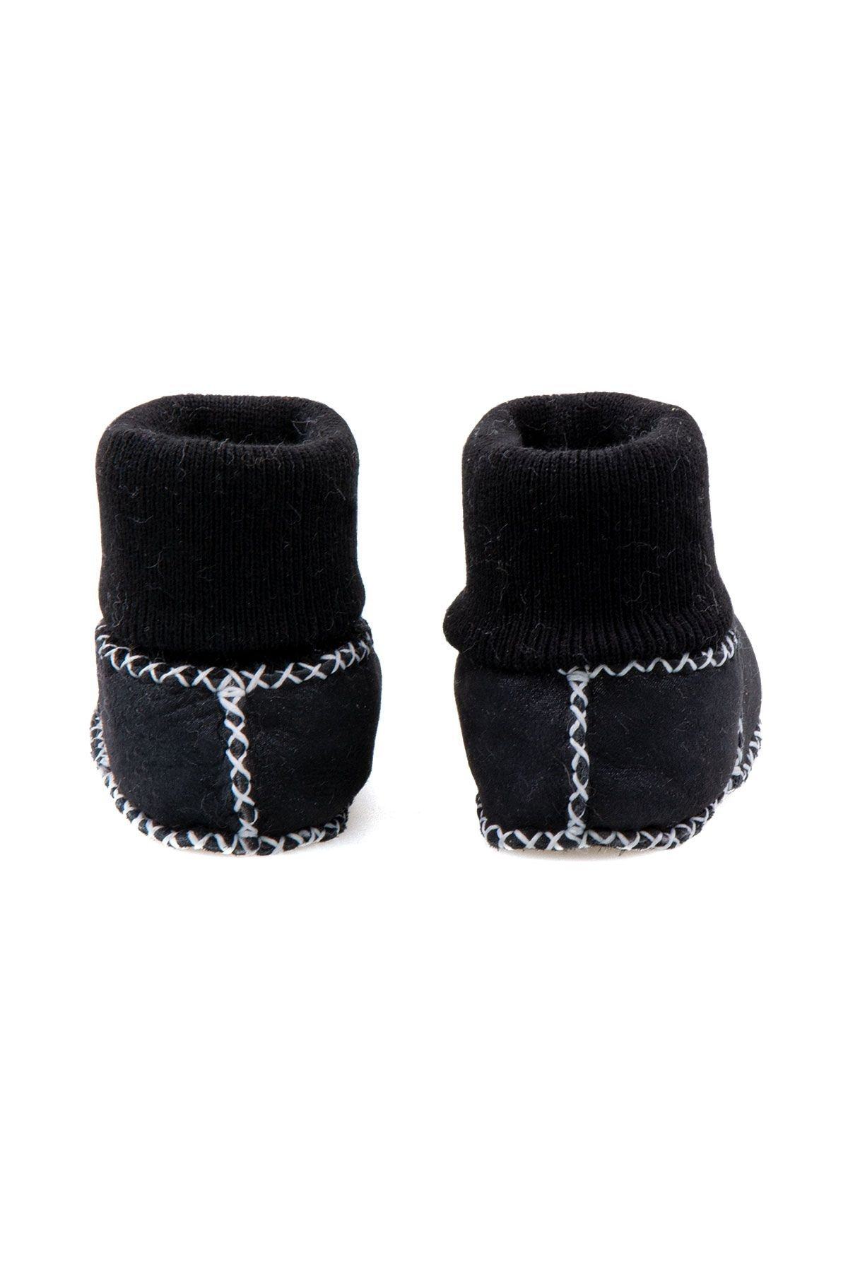 Pegia Shearling Baby's Booties With Socks 141112 Navy blue