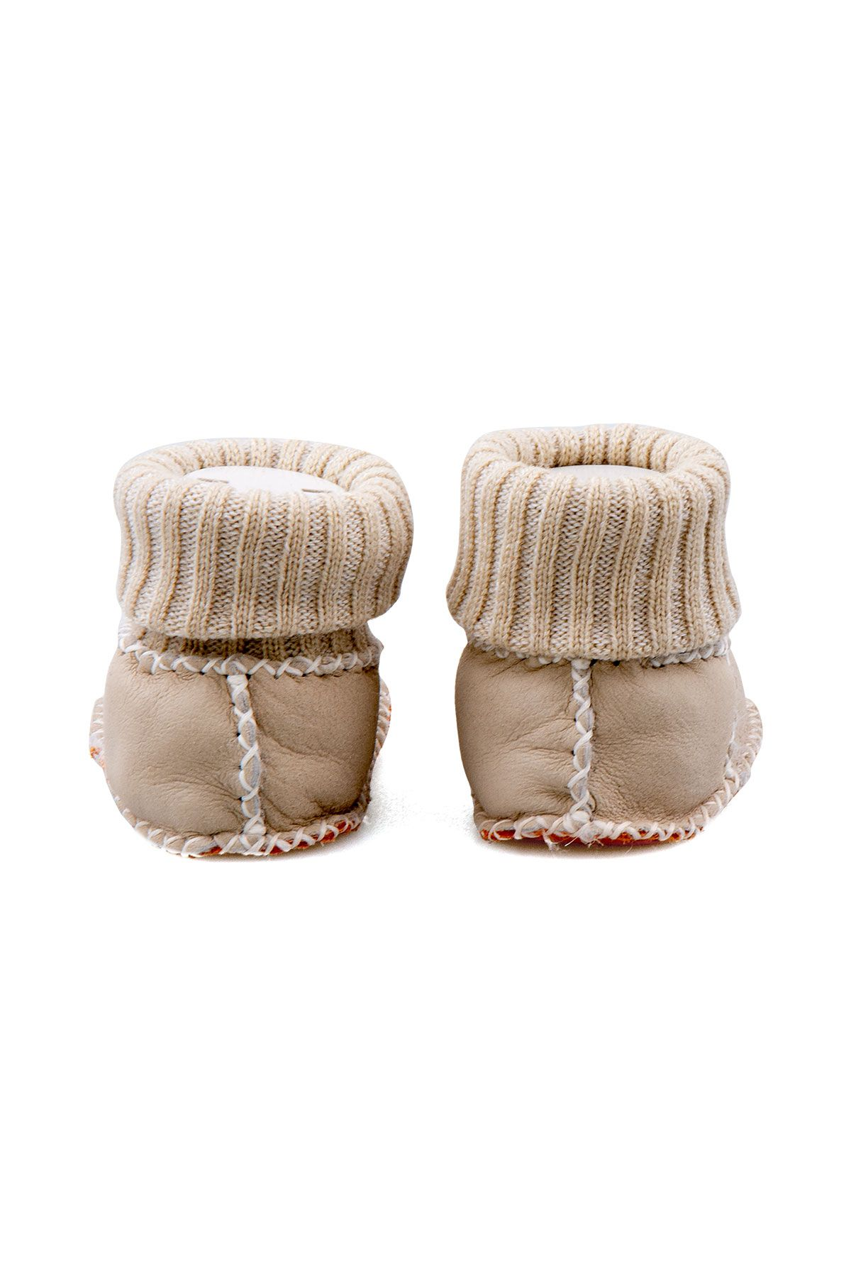 Pegia Shearling Baby's Booties With Socks 141112 Beige