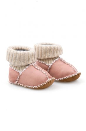 Pegia Shearling Baby's Booties With Socks 141112 Pink