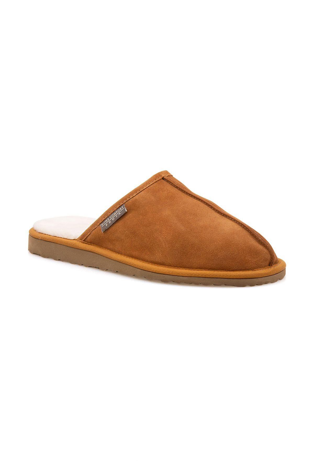 Pegia Men House Slippers From Genuine Fur Ginger
