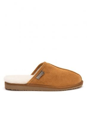 Pegia Shearling Men's House Slippers 111002 Ginger