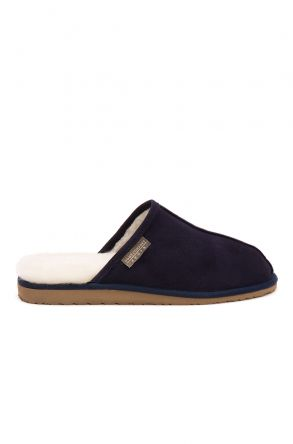 Pegia Shearling Men's House Slippers 111002 Navy blue