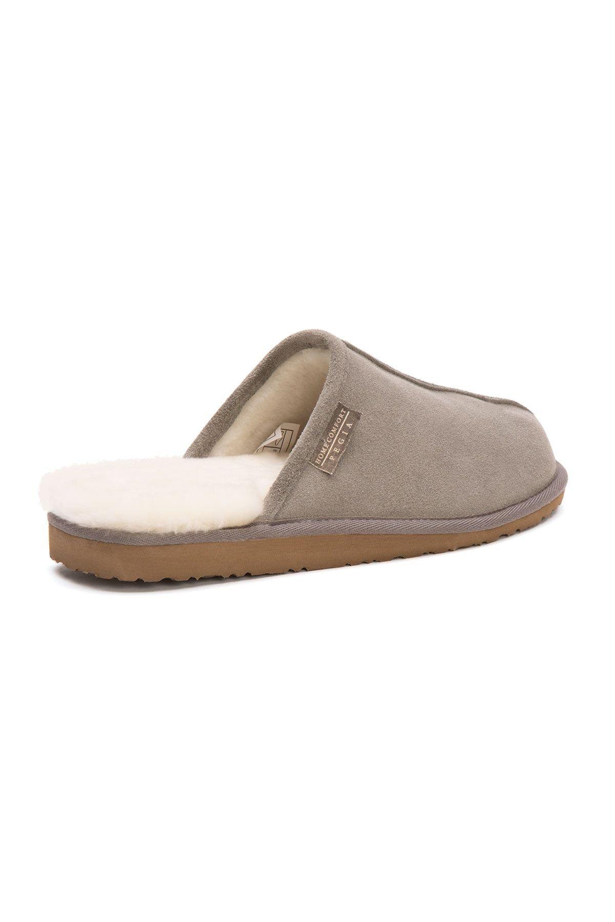 Pegia Shearling Men's House Slippers 111002 Gray