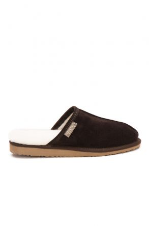 Pegia Shearling Men's House Slippers 111002 Brown