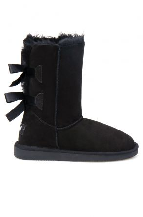 Pegia Genuine Sheepskin Women's Boots 191066 Black