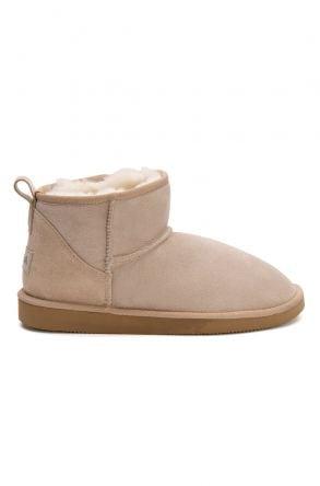 Pegia Genuine Suede Women's Mini Boots 191130 Beige