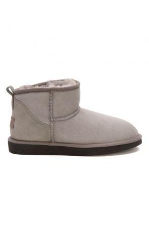 Pegia Genuine Suede Women's Mini Boots 191130 Gray