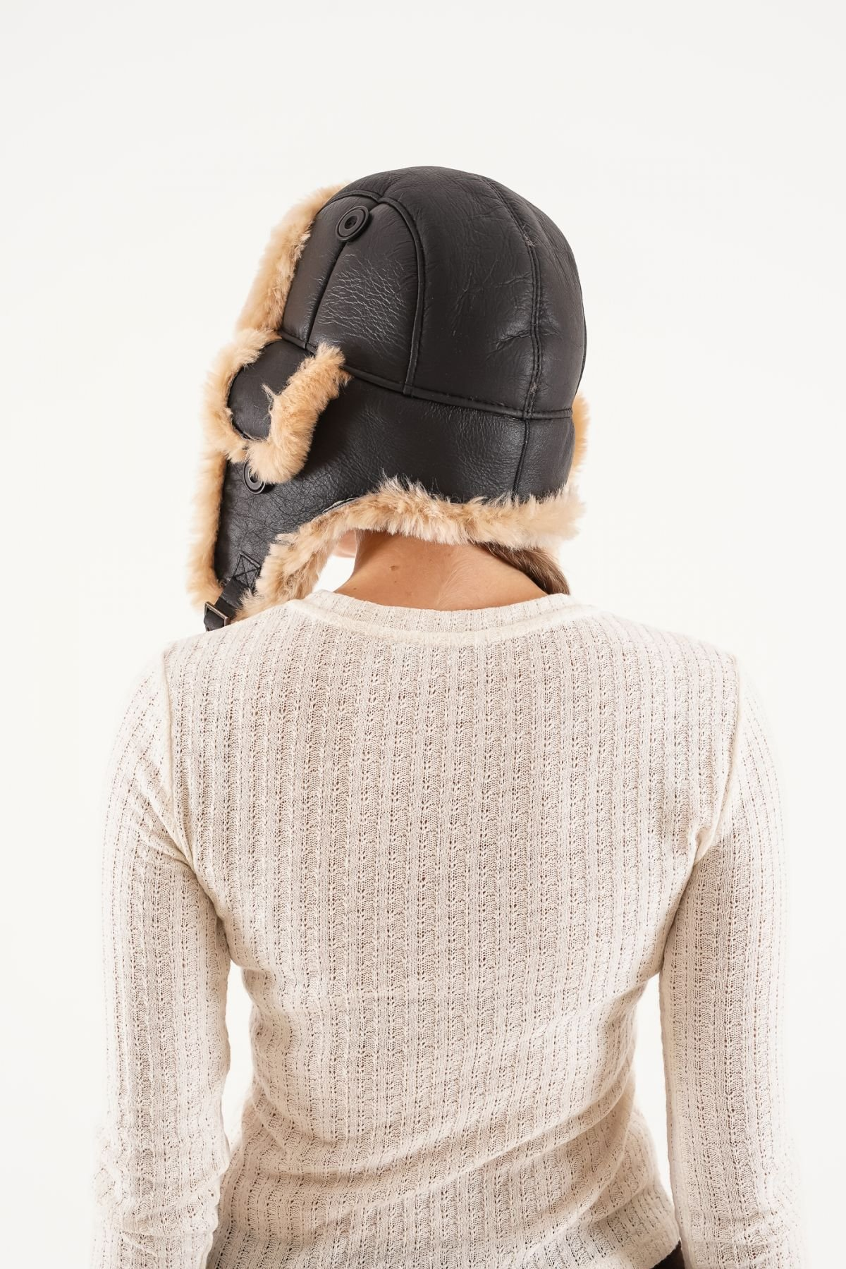 Pegia Genuine Sheepskin Hat 20SB01 Brown