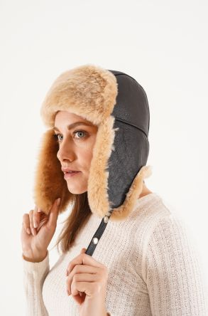 Pegia Genuine Sheepskin Hat 20SB04 Brown