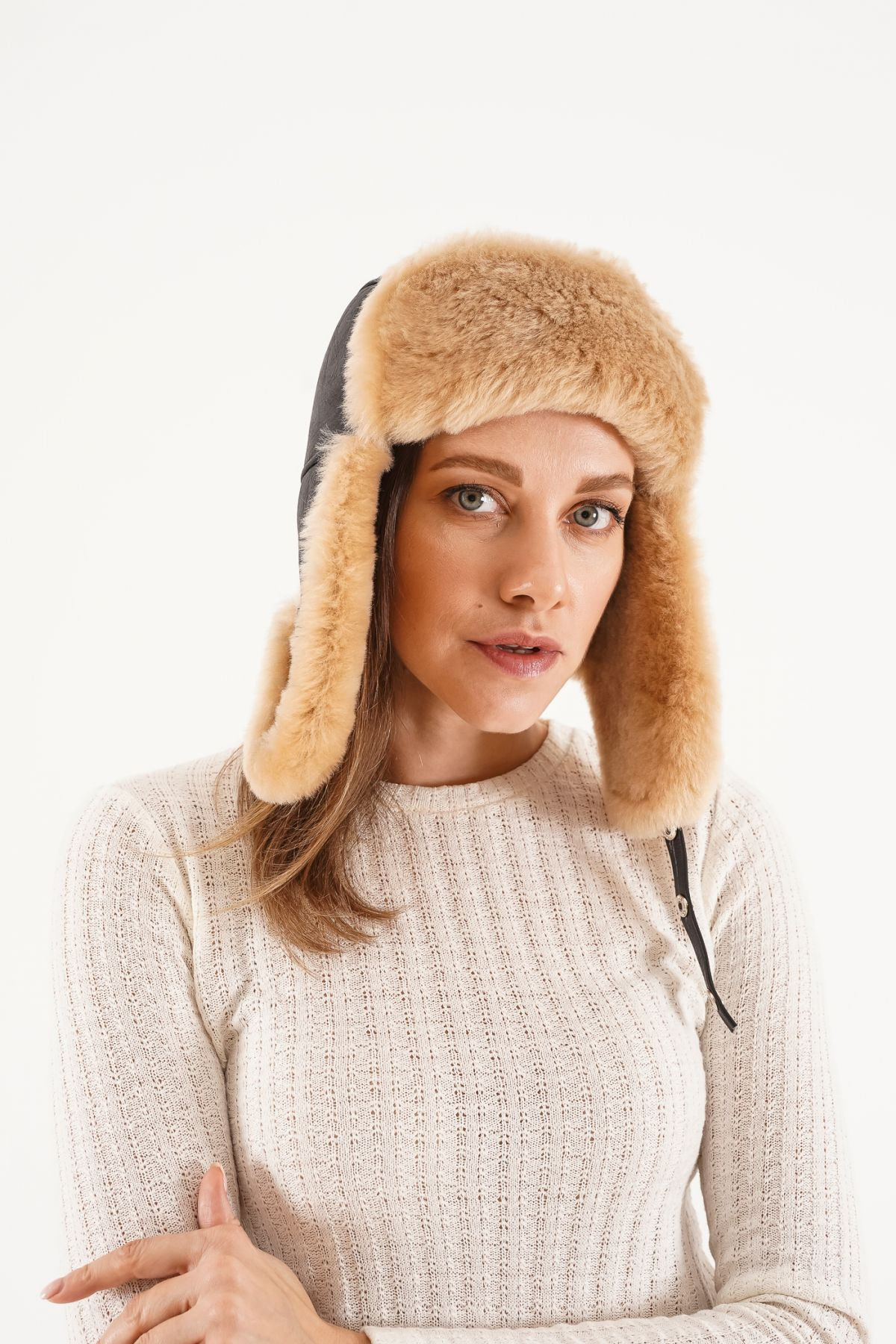 Pegia Genuine Sheepskin Hat 20SB04 Brown