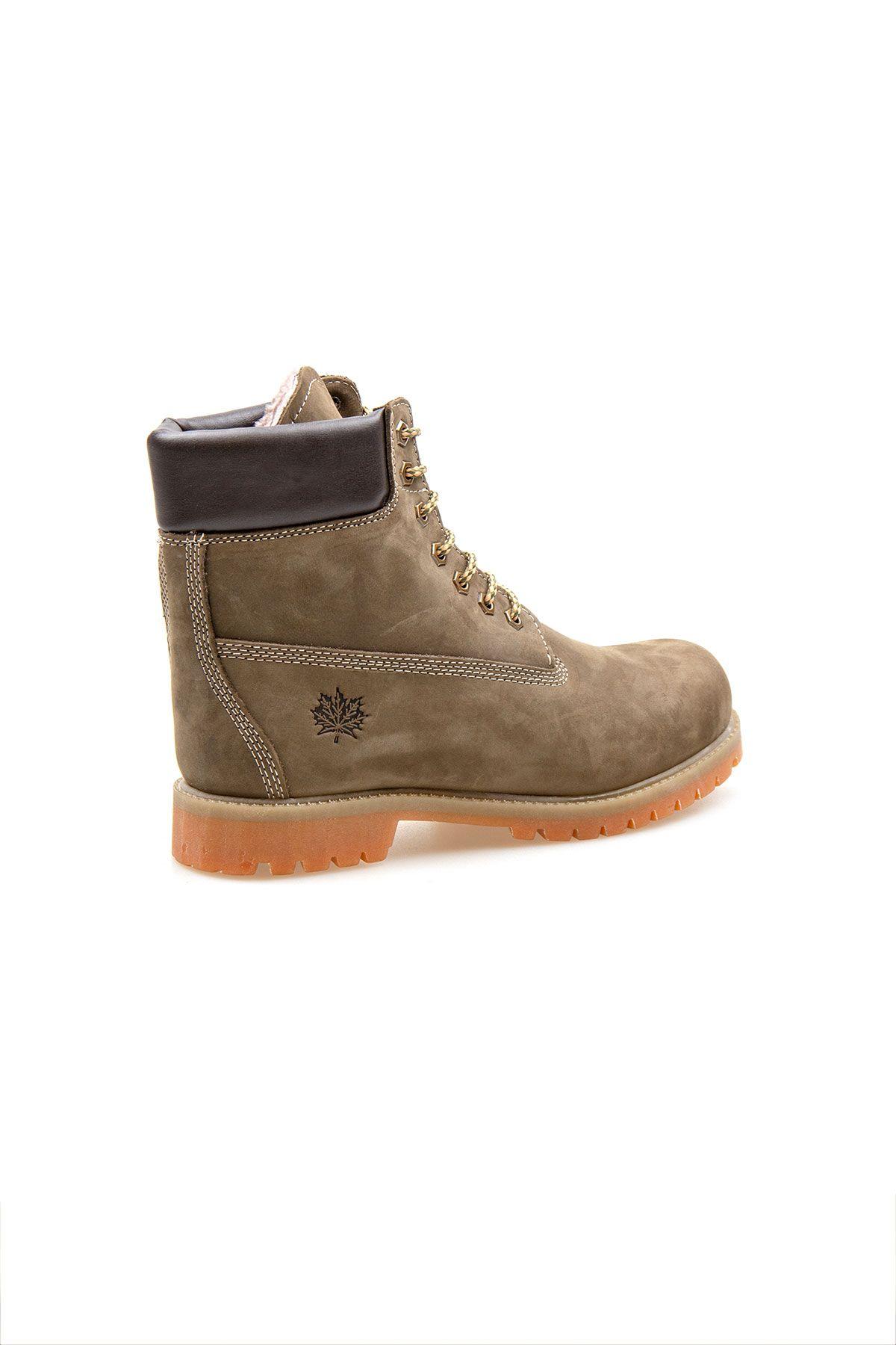 Pegia Genuine Nubuck Men's Boots 500900 Khaki