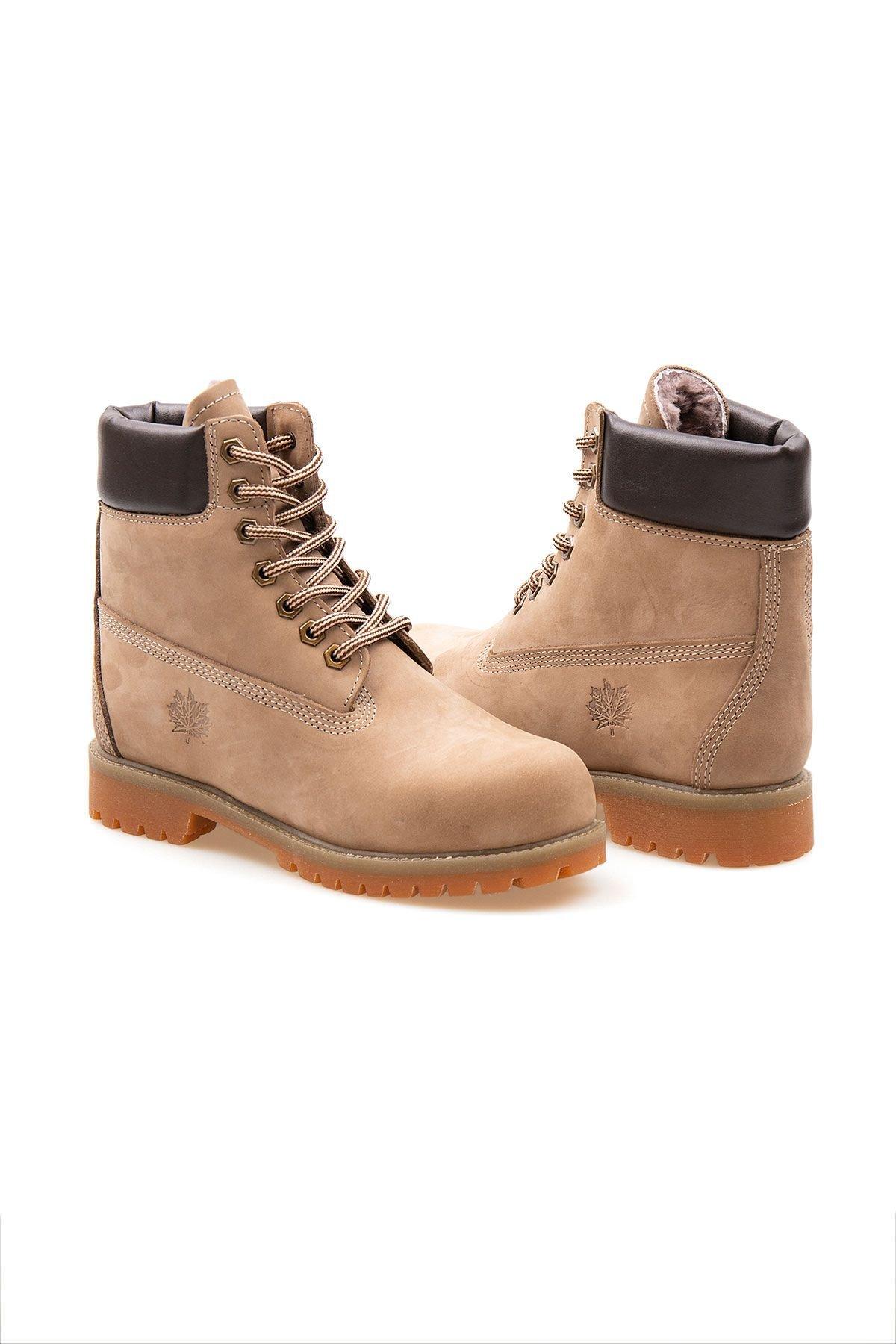 Pegia Genuine Nubuck Men's Boots 500900 Sand-colored