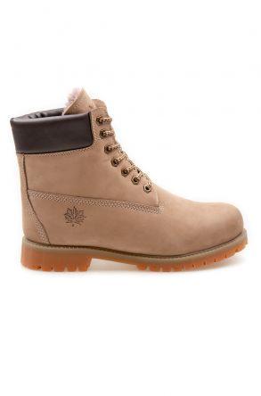 Pegia Genuine Nubuck Women's Boots 500800 Sand-colored