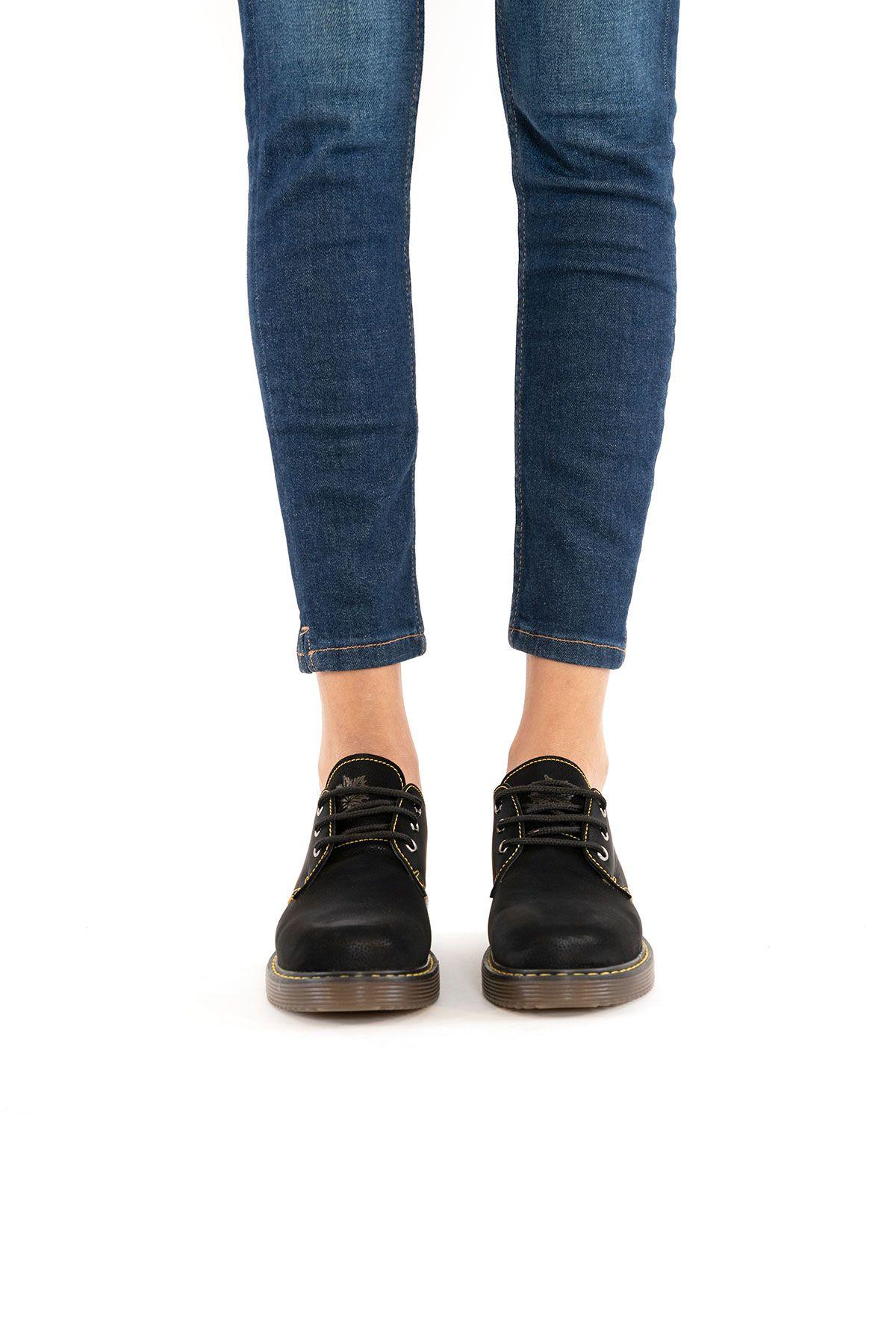 Pegia Genuine Nubuck Women's Shoes 500705 Black