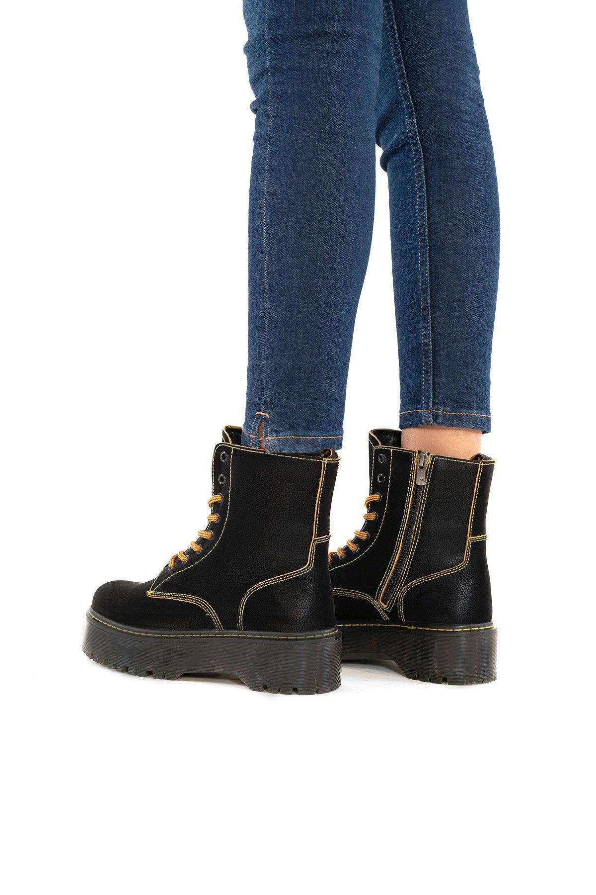Pegia Genuine Nubuck Women's Boots 500712 Black
