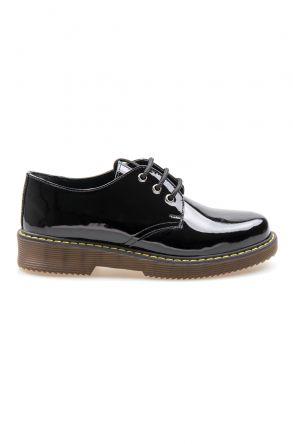 Pegia Genuine Patent Leather Women's Shoes 500703 Black