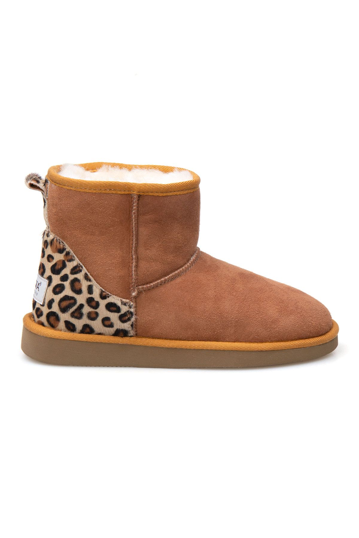 Pegia Leopard Detailed Women's Boots 191026 Ginger