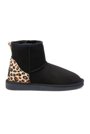 Pegia Leopard Detailed Women's Boots 191026 Black