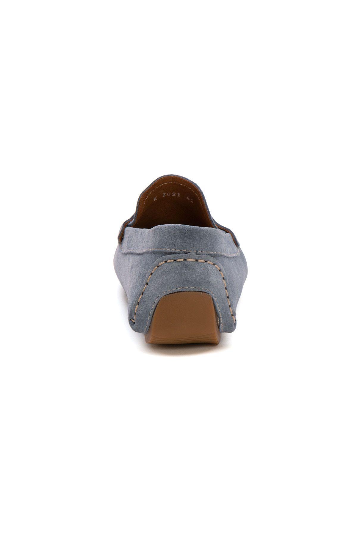 Pegia Genuine Suede Men's Loafer Shoes 500901 Blue