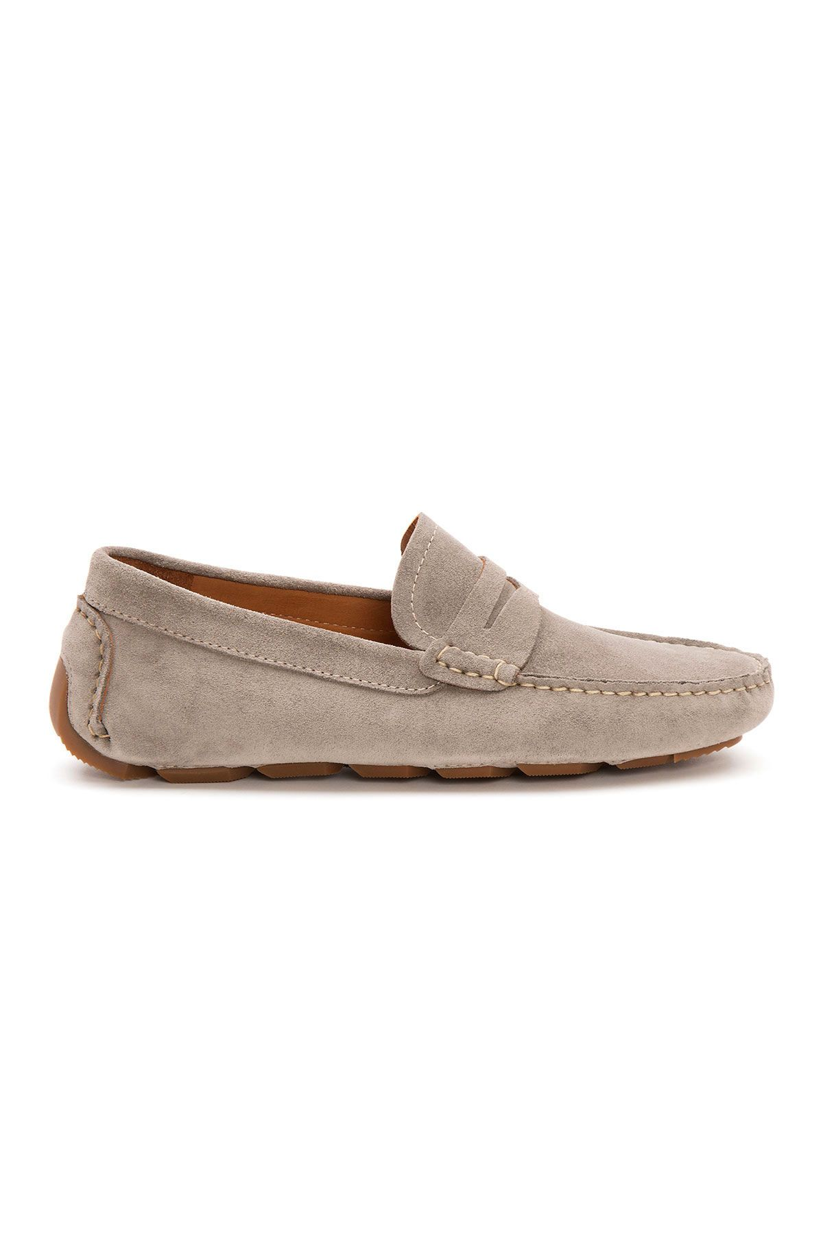 Pegia Genuine Suede Men's Loafer Shoes 500901 Gray