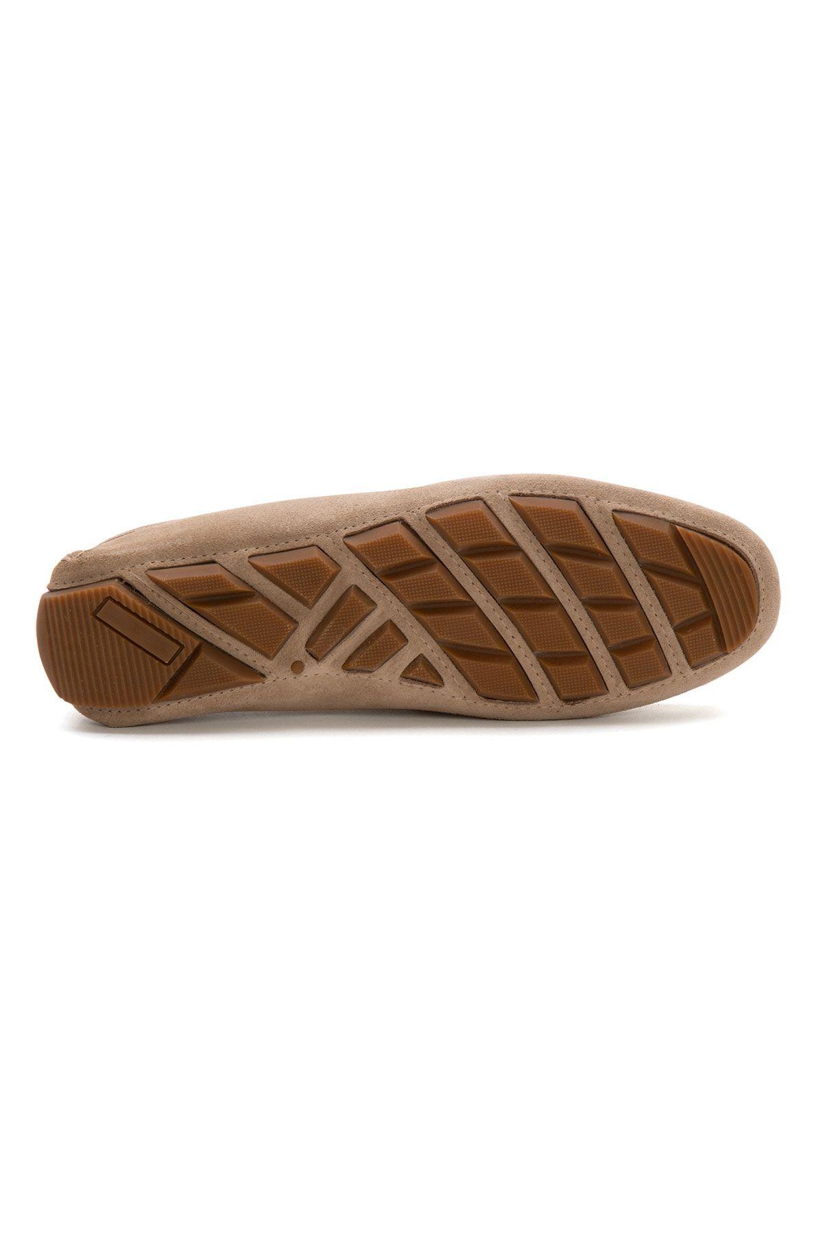 Pegia Genuine Suede Men's Loafer Shoes 500901 Beige