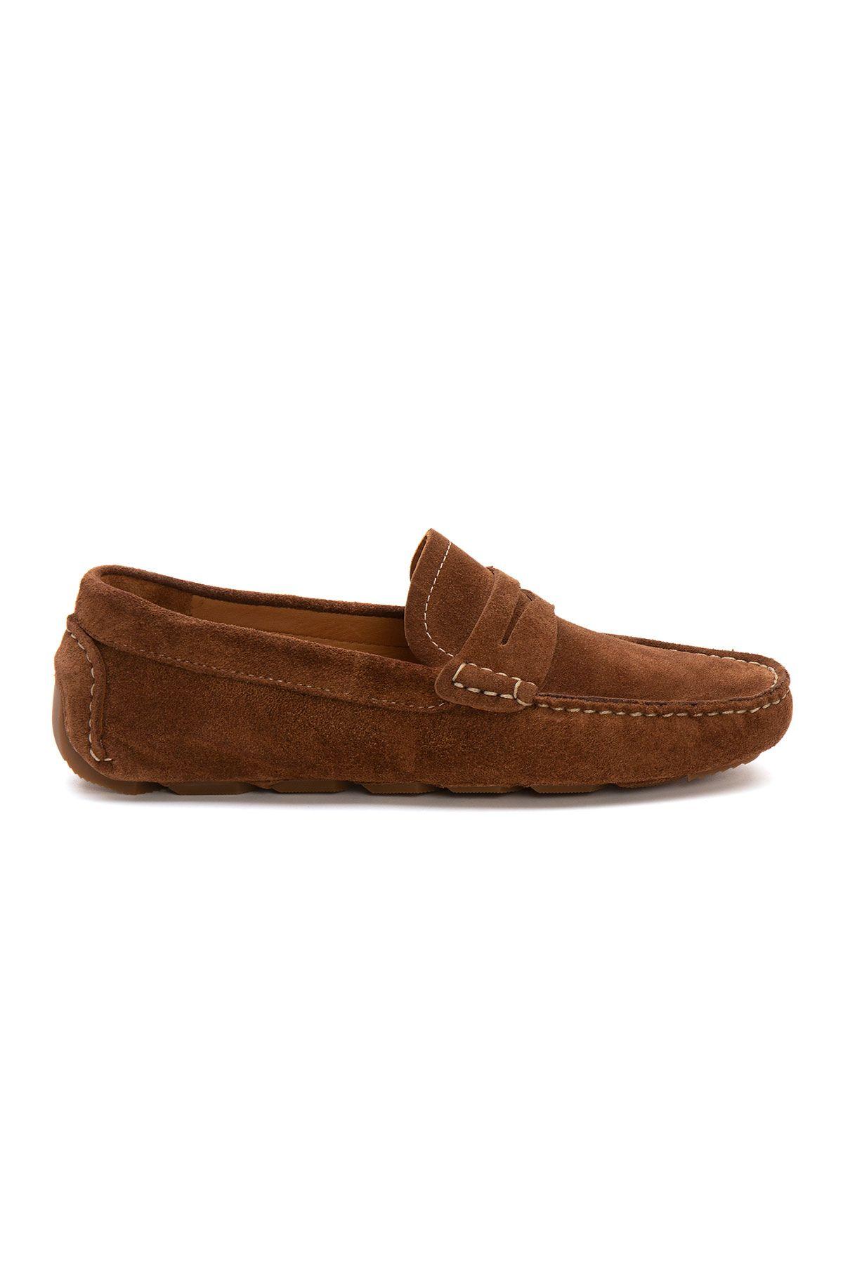 Pegia Genuine Suede Men's Loafer Shoes 500901 Ginger